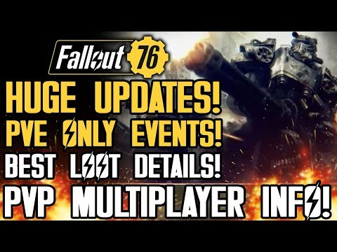 Fallout 76 - NEW UPDATES! PVE Only Events! New PVP Multiplayer Details! Zones! New Gameplay Details!