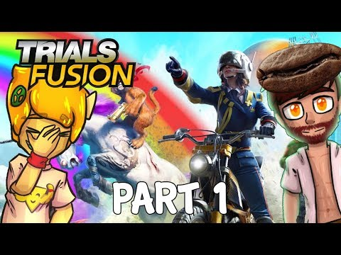 Trials Fusion Walkthrough Gameplay Part 1 - EVAN CANT DRIVE