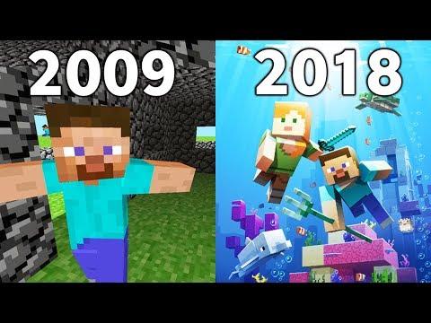 Evolution Of Minecraft Updates 2009 - 2018