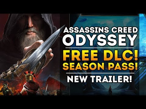 Assassin's Creed Odyssey - FREE DLC and Season Pass Details! New Gameplay Trailer! AC3 Remastered!