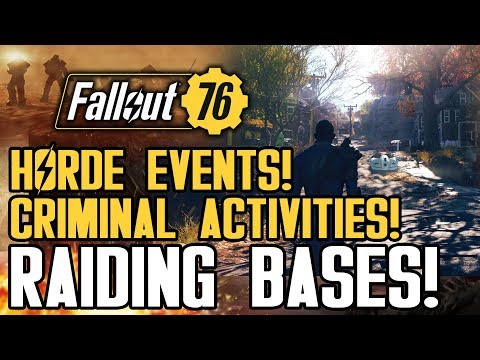 Fallout 76 - Horde Events! Crimes and Raiding Player Bases! And Is PVP Sniping Gameplay Viable?