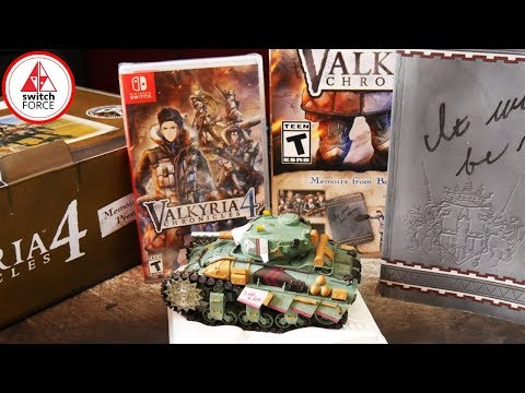 Valkyria Chronicles 4 Switch PREMIUM EDITION UNBOXING!