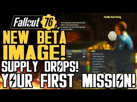 Fallout 76 - NEW BETA IMAGE! All New Details! Supply Drops! First Mission! New Gameplay Info!