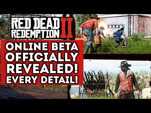 Red Dead Redemption 2 ONLINE BETA Officially REVEALED! Every Detail! New Multiplayer Gameplay info!