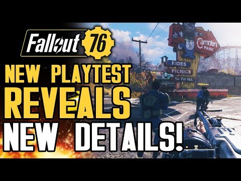Fallout 76 - New Playtest Reveals New Details: The World and Weapons! Crafting! New Gameplay Info!