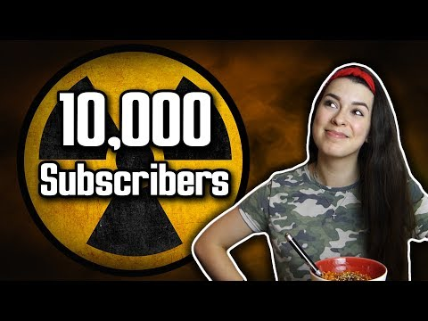 10,000 Subscribers ft. Nuclear Fire Noodle Challenge