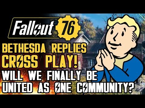 Fallout 76 - Bethesda's New Reply About Cross Play After Sony and PS4 Support Fortnite!