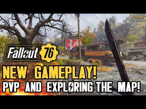 Fallout 76 - All New Gameplay! Multiplayer PVP, Free Roaming The Map! (Pre-Beta Gameplay)