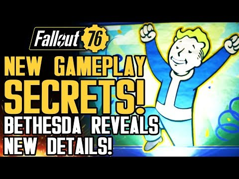 Fallout 76 - New Gameplay Secrets! HUGE INFO DUMP! World Events, PVP, Multiplayer and Supply Drops!