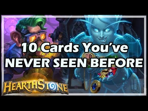10 Cards You've NEVER SEEN BEFORE - Boomsday / Hearthstone