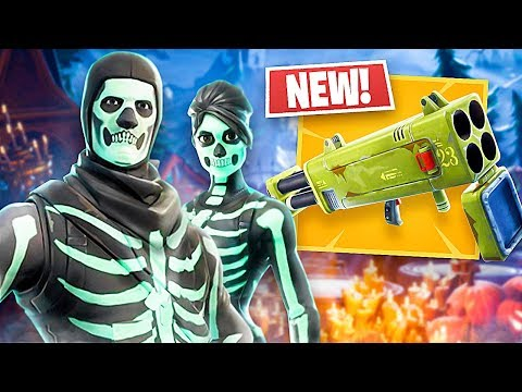 *NEW* Quad Launcher Gameplay & Skull Trooper/Skull Ranger Skins!! (Fortnite LIVE Gameplay)
