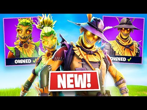 *NEW* Halloween SCARECROW Skins in Fortnite!! (Fortnite Live Gameplay)