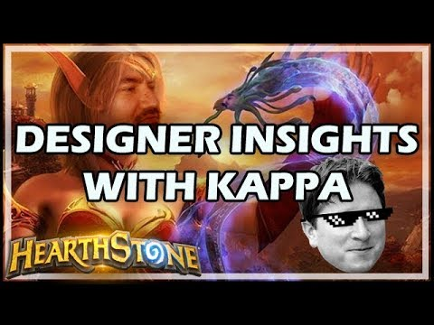 DESIGNER INSIGHTS WITH KAPPA - Hearthstone / Balance Patch