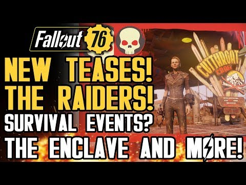 Fallout 76 - BRAND NEW TEASES! Raiders, Enclave! New Survival Event? New Gameplay Details!