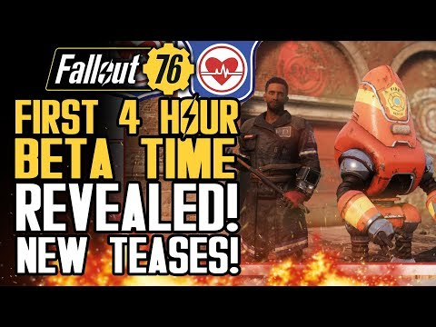 Fallout 76 - First 4 Hour Beta Time Revealed! All New Teases and Updates! New Gameplay Info!