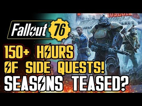 Fallout 76 - 150+ Hours of Side Quests! Seasons Teased? Mysterious Dog Spotted!