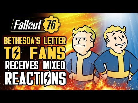 Fallout 76 - Bethesda's Letter to Fans Receives Mixed Reactions Just Ahead of Beta