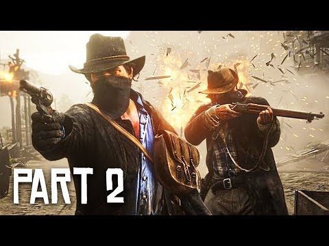 Red Dead Redemption 2 Gameplay Walkthrough, Part 2 - ROBBING A TRAIN! (RDR 2 PS4 Pro Gameplay)