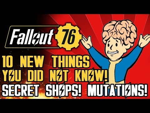 Fallout 76 - 10 New Things You Did NOT Know!  Secret Shops, Mutations, and New Gameplay Mechanics!