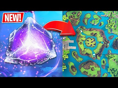 *NEW* Fortnite Cube EXPLODED!! Map Update  + Mini Cube Challenges! (Fortnite LIVE Gameplay)