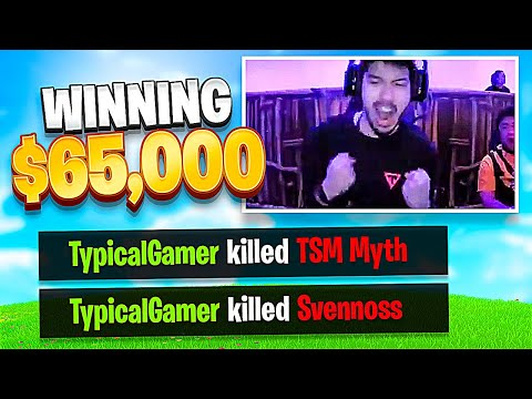 Typical Gamer Kills TSM Myth & Svennoss Winning $65,000!! (Fortnite Fall Skirmish Tournament)