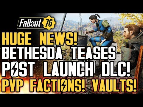 Fallout 76 - Official FREE DLC TEASES! PVP Factions, Secret Vaults, CAMP Updates and Respeccing!