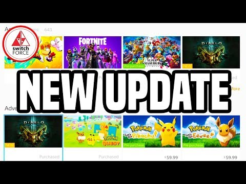 NEW Nintendo Switch Update! Switch eShop Gets New Search and New Look!