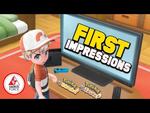 Pokemon Let's Go First Impressions New Pokemon Game! (Pokemon Lets Go Pikachu/Eevee Nintendo Switch)
