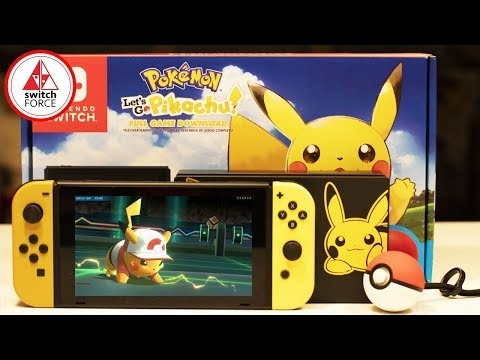 Pokemon Let's Go Switch Bundle Unboxing! Pokemon Let's Go JoyCon Unboxing and Review!