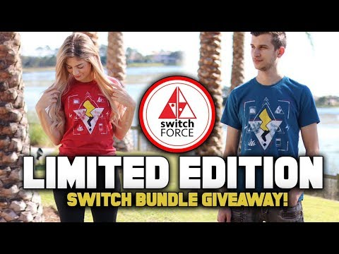 NEW T-SHIRTS w/ Pokemon Switch Bundle Giveaway!  Team Electric vs Team Elemental (Pikachu vs Eevee)