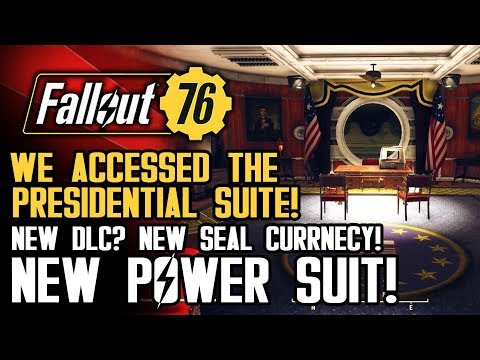 Fallout 76 - We Snuck Into The Presidential Suite! NEW POWER SUIT! New Seal Currency!