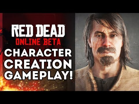 Red Dead Online Beta - Character Creation Gameplay! (Red Dead Redemption 2)