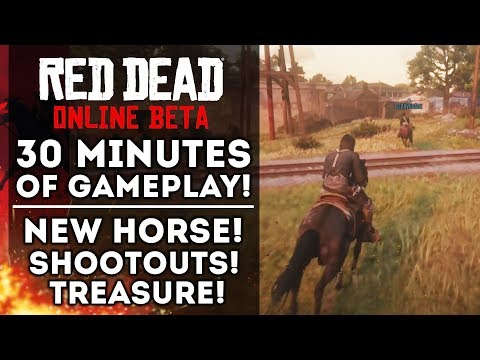 Red Dead Online Beta - New Multiplayer Gameplay! Free Roam! New Horse! (Red Dead Redemption 2)