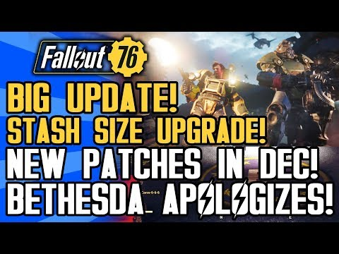 Fallout 76 - BIG NEWS! Stash Size Increase! New Patches! Lawsuit! Boss Loot and Updates!