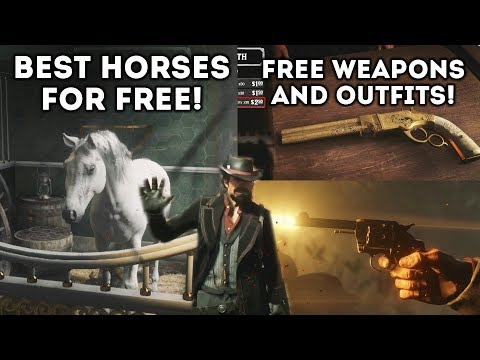 Red Dead Online - Best Horses for FREE! Free Weapons and Outfits At The Beginning!