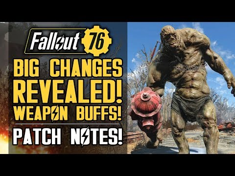 Fallout 76 - Big Changes Revealed! Weapon Buffs and More! FULL PATCH NOTES for Dec 4th!