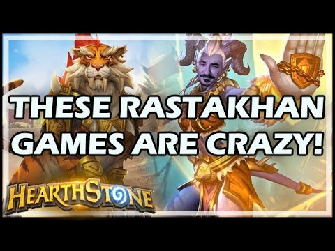 THESE RASTAKHAN GAMES ARE CRAZY! - Rastakhan's Rumble Hearthstone