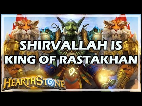 SHIRVALLAH IS KING OF RASTAKHAN - Rastakhan's Rumble Hearthstone