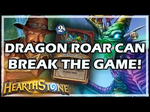 DRAGON ROAR CAN BREAK THE GAME! - Rastakhan's Rumble Hearthstone