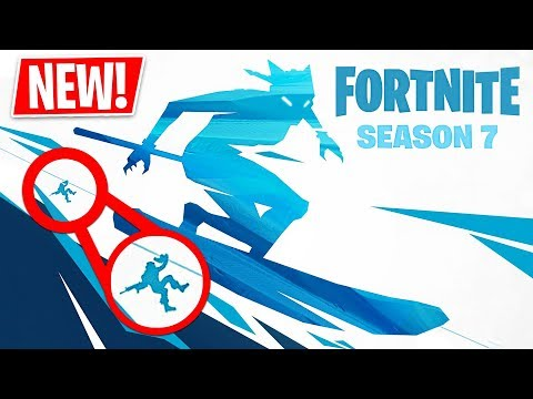 *NEW* Fortnite Season 7 Snowboarding/Skiing & Zipline Teaser! (Fortnite Live Gameplay)