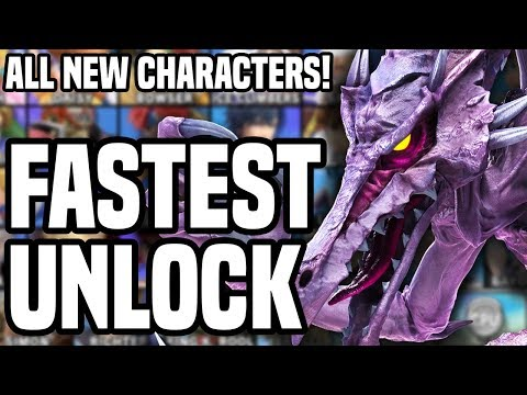 FASTEST WAY TO UNLOCK CHARACTERS in Smash Bros Ultimate - ALL NEW FIGHTERS on Nintendo Switch