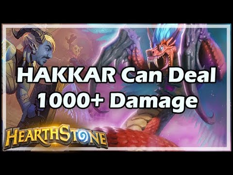HAKKAR Can Deal 1000+ Damage - Rastakhan's Rumble Hearthstone
