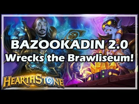 BAZOOKADIN 2.0 Wrecks the Brawliseum! - Rastakhan's Rumble Hearthstone