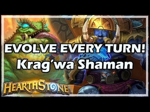 EVOLVE EVERY TURN! Krag'wa Shaman - Rastakhan's Rumble Hearthstone