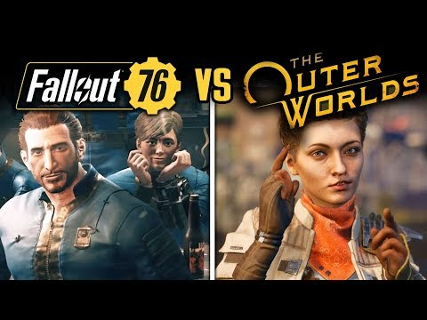 Bethesda's FALLOUT 76 vs Obsidian's THE OUTER WORLDS!  FULL Comparison: Graphics and Gameplay!