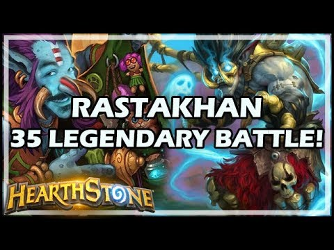 RASTAKHAN 35 LEGENDARY BATTLE! - Rastakhan's Rumble Hearthstone