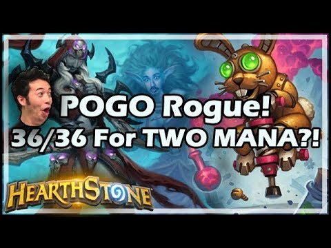 POGO Rogue! 36/36 For TWO MANA?! - Rastakhan's Rumble Hearthstone
