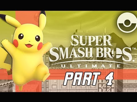 SUPER SMASH BROS ULTIMATE Gameplay Walkthrough Part 4 - PIKACHU