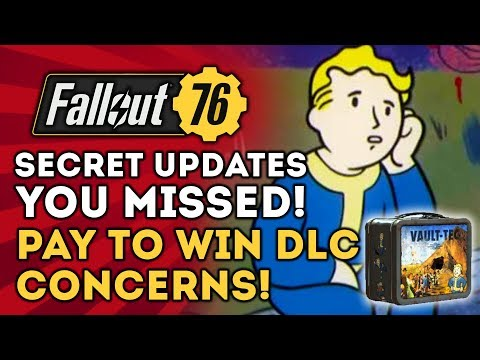 Fallout 76 - Secret Updates You Missed! Lunchboxes = Pay to Win and Lootcrates?
