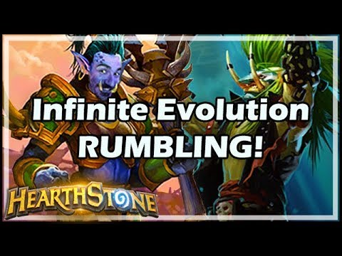 Infinite Evolution RUMBLING! - Rastakhan's Rumble Hearthstone